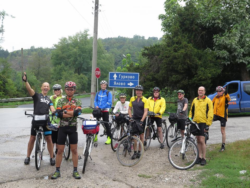 Bulgarian cycling tour group