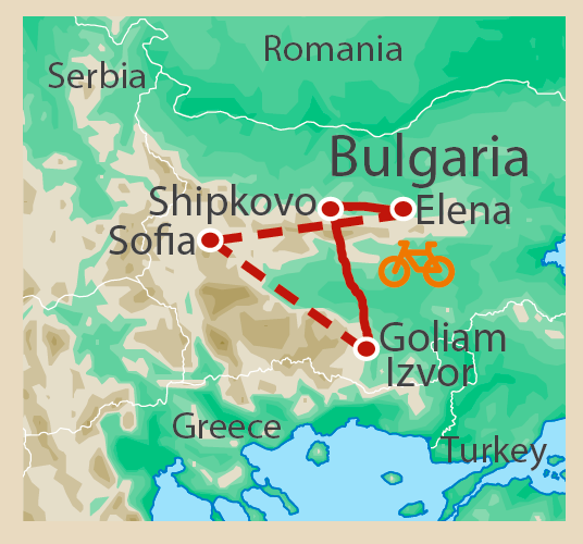 Bulgaria Cycling Tour Route